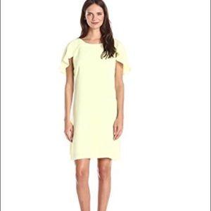JESSICA SIMPSON lemon cape shoulder dress